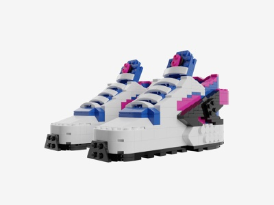 Bricks Kicks Air Huarache Run '91 Collectible Kit air sneakers legos lego design