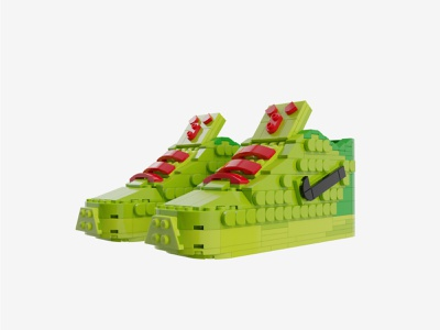 "Bricks Kicks Kobe 6 ""Grinch"" Collectible Kit design toys model bricks kicks sneakers lego nike"