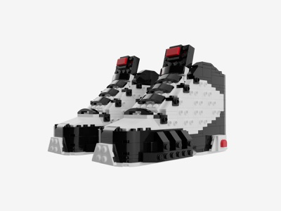 "Bricks Kicks Air Jordan 9 ""OG"" Collectible Kit collectibles jordan sneaker nike lego model design"