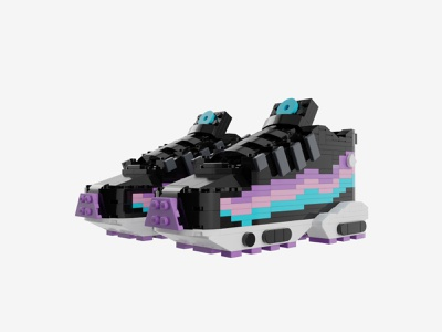 "Bricks Kicks Air Max 95 ""Have a Nike Day"" Collectible Kit 3d model air max nike collectible toys art design"