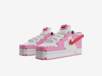 "Bricks Kicks Air Force 1 ""Love Letter"" Collectible Kit air force 1 nike lego collectibles toys model 3d design"