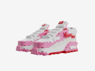 "Bricks Kicks Air Max 90 ""Love Letter"" Collectible Kit nike air max nike lego collectibles toys model 3d design"