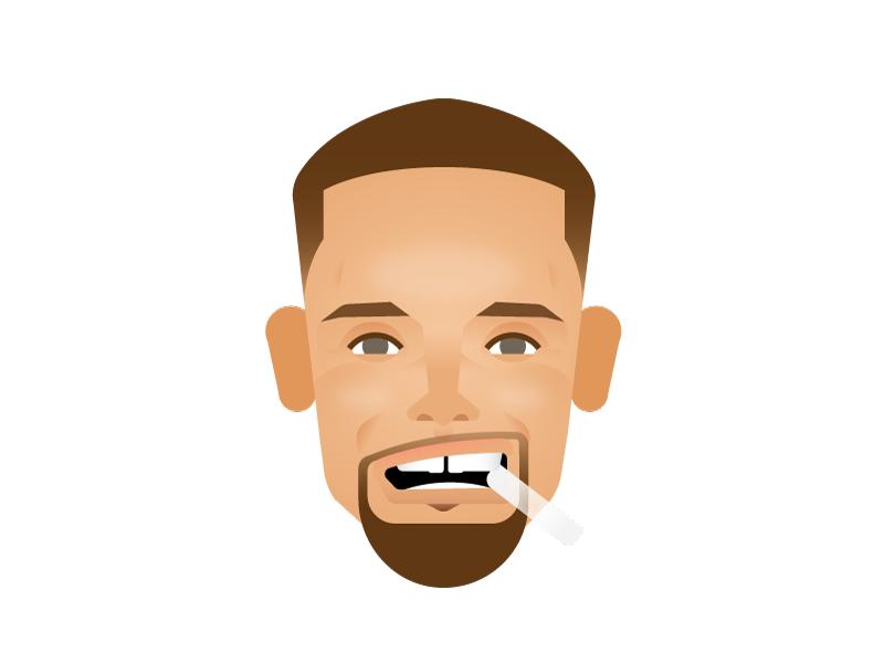 Steph Curry design illustration steph steph curry nba finals 2016 sports basketball golden state emoji