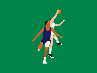 Moments in Sports - Havlicek nba sixers celtics sports illustration design