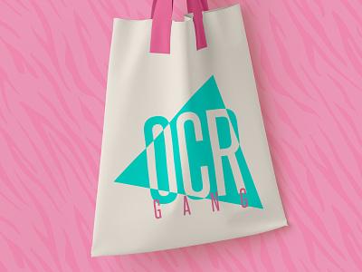OCR Gang // Logo Exploration green pink apparel bag pattern logo design active energy branding obstacle course racing race spartan ocr retro bright 80s