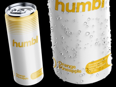 Humbl // Can Design product packaging can design can vector logo design clean energy branding 80s retro yellow cpg drink active gradient energy drink