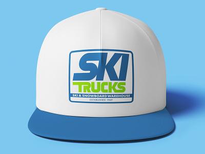 Ski Trucks // Final Logo retro 80s logo design clean active energy branding ski trails utah salt lake city ride winter snow mountains ski shop snowboard ski