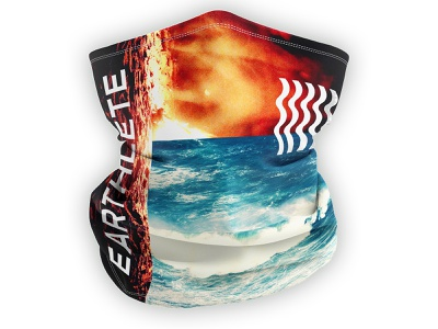 Earthlete // Buff Design logo design active energy branding outdoors outdoor design clothing design apparel design trail run race swim sup hawaii water competition event face covering neck apparel