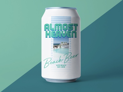 Summer Brew Set (1 of 3) design clean active branding sunscreen sun water bright can mockup mockup drinking summer beach 80s can design can beer can beer