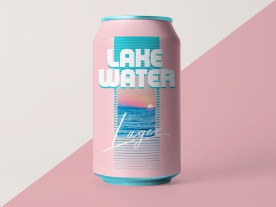 Summer Brew Set (2 of 3) logo design clean active energy branding boating ohio midwest lake erie can design can drink summer lake water sun beer can design beer can beer