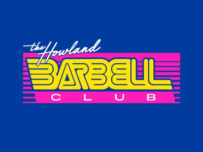 Howland Barbell Club // Logo Design 90s apparel clothing bright 80s logo design clean active branding dumbell ohio powerlift retro exercise workout energy gym barbell lift
