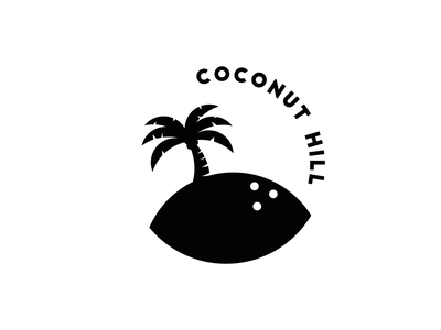 Coconut Hill palm tree circle logo badge logo icon typography branding graphic  design flat design logo design logotype logo