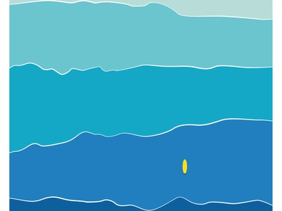 Oceans gradient layers design abstract minimal blue flat design illustration graphic  design surf waves wave water sea oceanic ocean