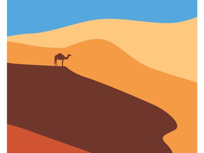 Desert digital enviroment warmup camel hot sand graphic  design design illustration abstract minimal flat design desert