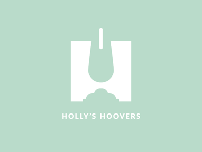 Holly's Hoovers simple identity branding minimal cleaning h mint logo graphic design negative space