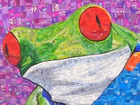 Tree Frog – Created with Recycled Material
