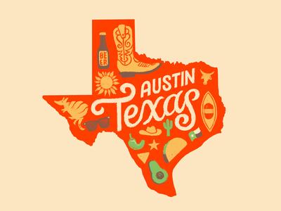 ATX bull armadillo beer label cactus pepper taco beer cowboy illustration avocado atx austin texas