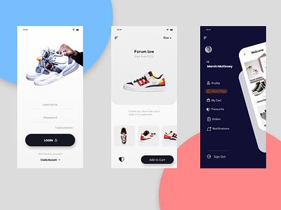 Mobile app design ( sneakers store ) ui design mobile app design ux ui figma design