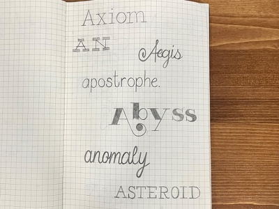 Hand Lettering Practice - Each Letter of the Alphabet words typography handlettering lettering
