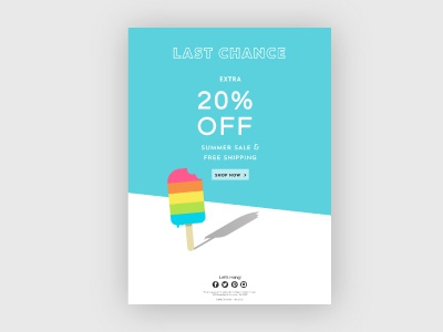 Summer Email Campaign popsicle colorful playful marketing graphic illustration newsletter campaign email