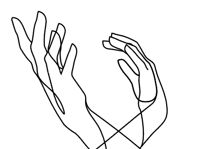 Hands lines abstract shape simple hands
