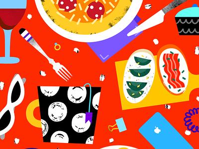 Dinner editorialillustration editorial illustration