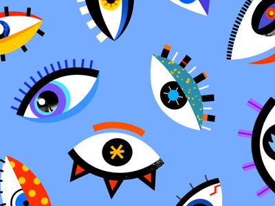 Eyes branding pattern illustration