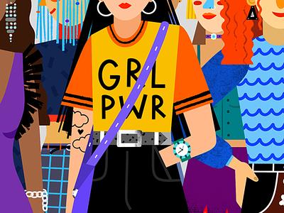Girl Power editorialillustration editorial illustration