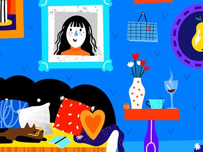 In your room editorialillustration editorial illustration