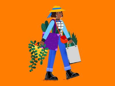 Girl with plants editorialillustration editorial illustration