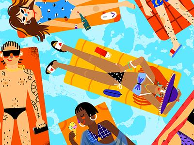 Pool editorialillustration editorial illustration