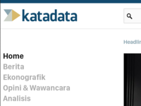 Iteration for Katadata logo and website design