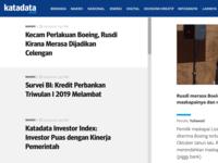 Layout, typography, colour experiment for Katadata