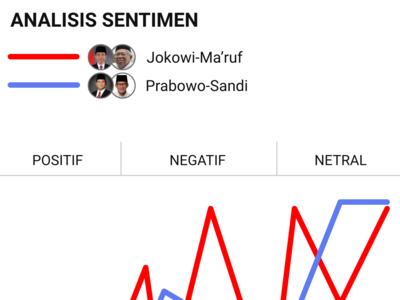 Mobile view, data visualization of sentiment analysis