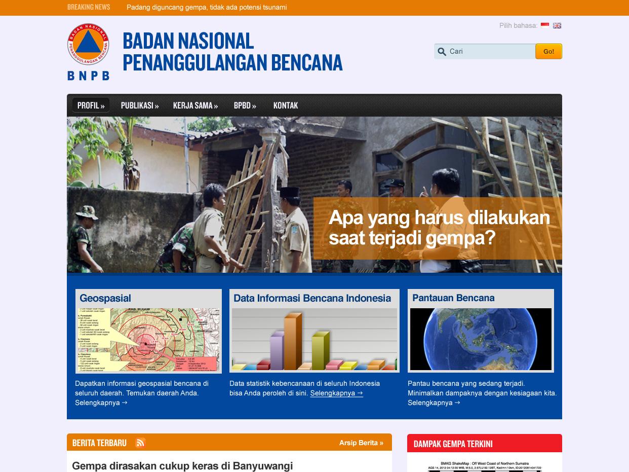 BNPB news ui information architecture editorial design typography
