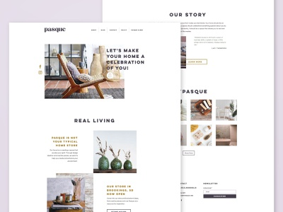 Pasque Website interior design home decor south dakota pasque web designer wix branding small business website web design