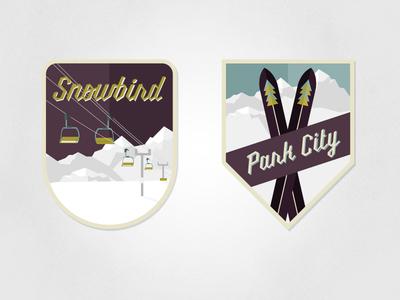 US Ski Resort Badges