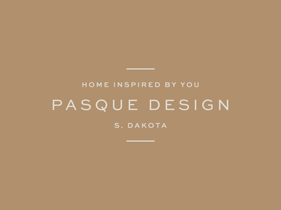 Pasque Design identity branding logo south dakota midwest pasque typography interior design