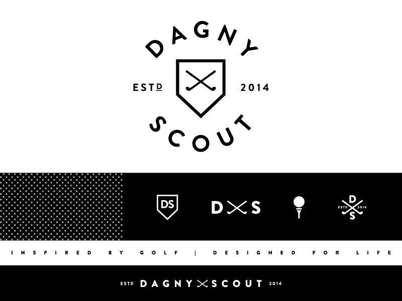 Dagny Scout Branding  golf women apparel branding logo typography dagny scout sports