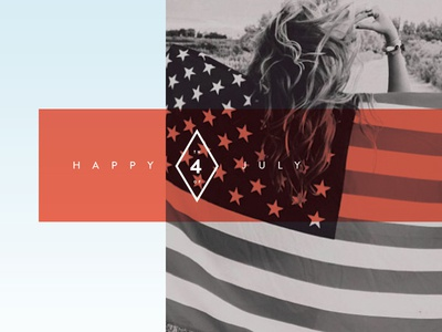 Independence Day american typography 4th of july red white blue blog independence