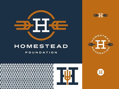 Homestead Foundation Branding t-shirt midwest south dakota homestead wheat navy small business branding coworking