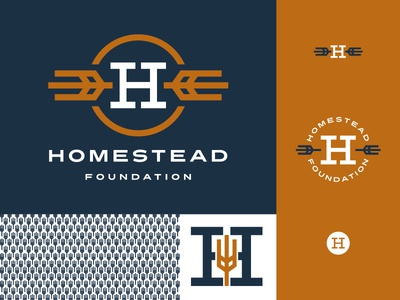 Homestead Foundation Branding t-shirt midwest south dakota homestead wheat navy small business branding coworking