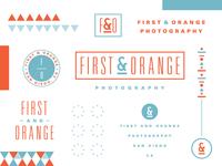 First & Orange Photography Branding
