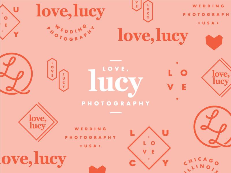 Love, Lucy Branding typography photography wedding branding
