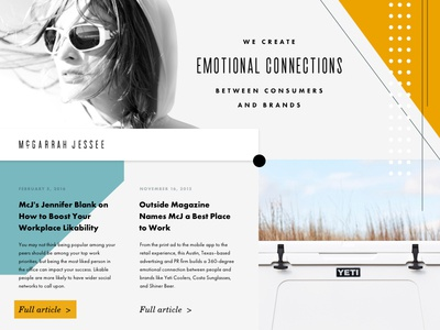 Site Style texas austin wip mcgarrah jessee layout modern mid-century typography redesign website