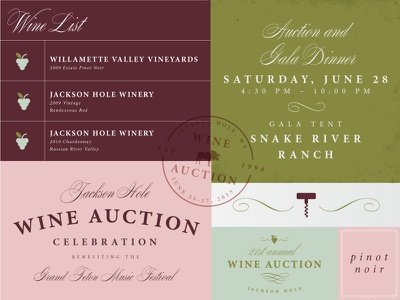 Jackson Hole Wine Auction grand teton layout typography earthy natural branding wine nature west mountains jackson hole