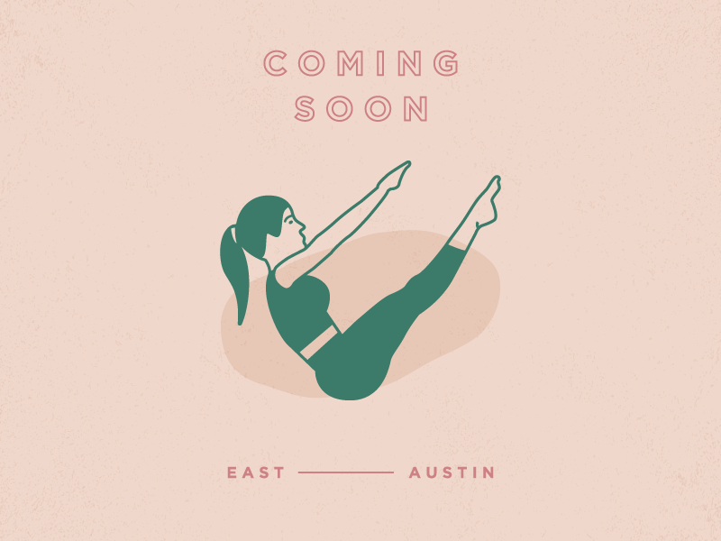 Fitness Brand - Coming Soon icon logo typography studio pilates east austin austin brand branding fitness