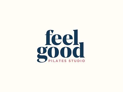Feel Good Pilates Logo grand opening layout workout fitness pilates identity brand typography texas austin logo branding