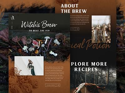 Witch's Brew - Mocktober photography typography halloween dark mockup mobile website mocktober