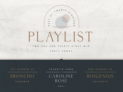 Best of 2018 playlist branding natural 2018 best of spotify playlist music typography